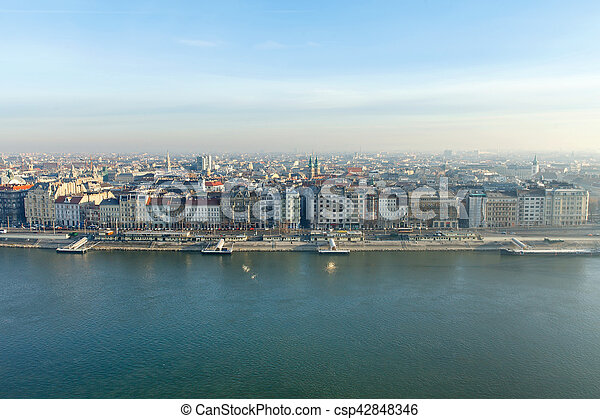 Morning view in Budapest - csp42848346