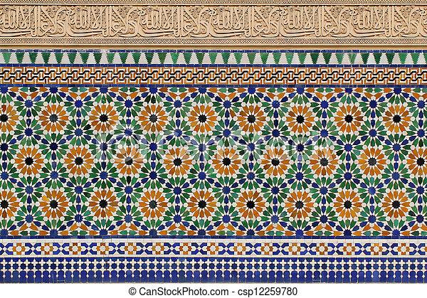Moroccan Architecture Details - csp12259780