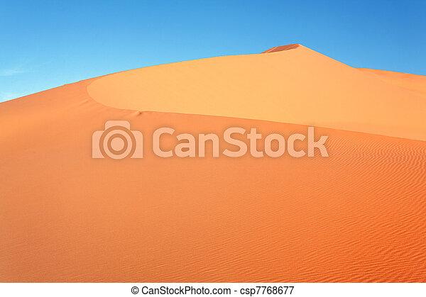 Moroccan desert dune - csp7768677