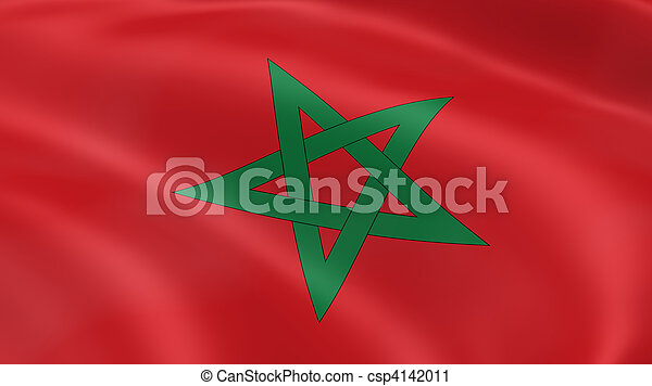 Moroccan flag in the wind - csp4142011