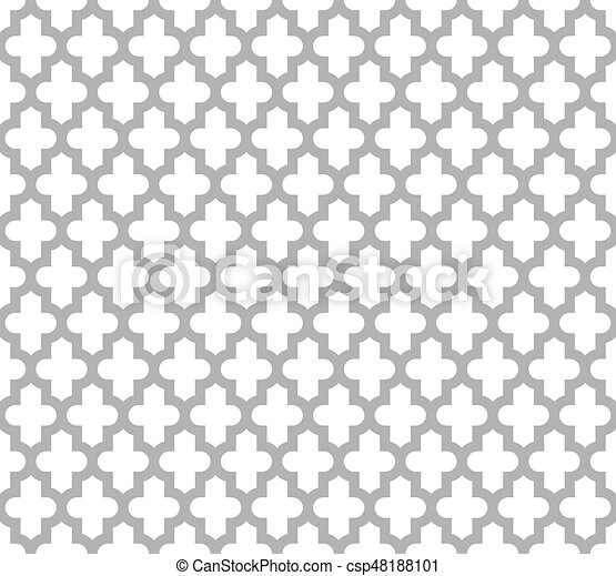 Moroccan Islamic Seamless Pattern Background In Grey And White Vintage Retro Abstract