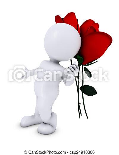 Hombre Morph con Rose - csp24910306