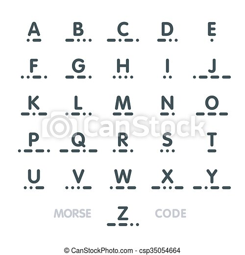 Morse Code Alphabet Clip Art Vector  Search Drawings And Graphics
