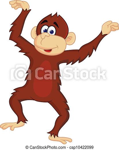 morsom, abe, dansende - csp10422099