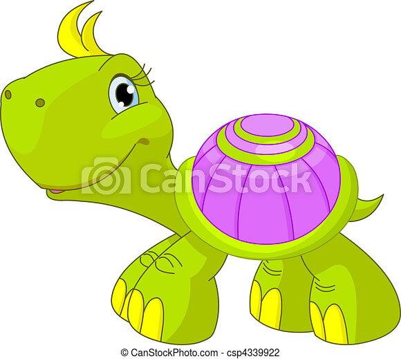 morsom, skildpadde, cute - csp4339922