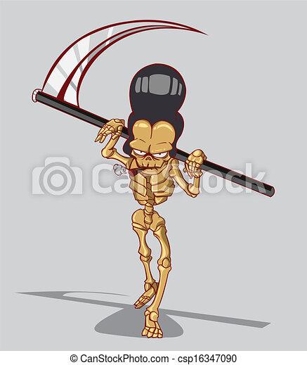 mort, squelette - csp16347090