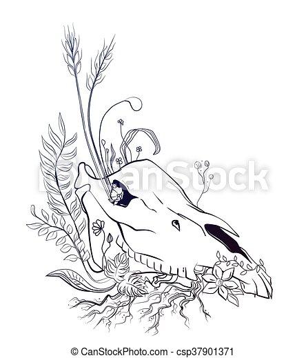 mort, vie, graphique, symbolique, composition - csp37901371