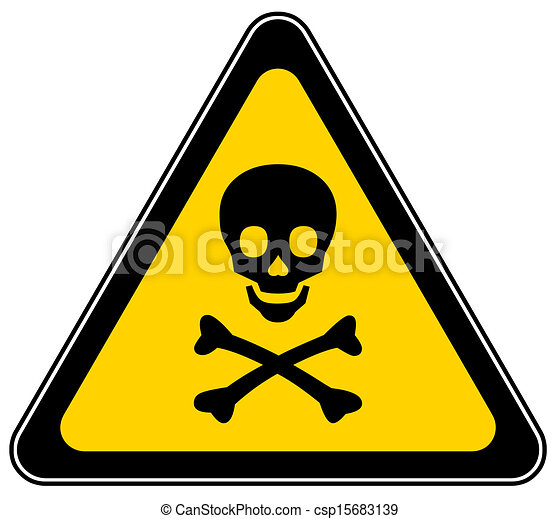 Señal de peligro mortal - csp15683139