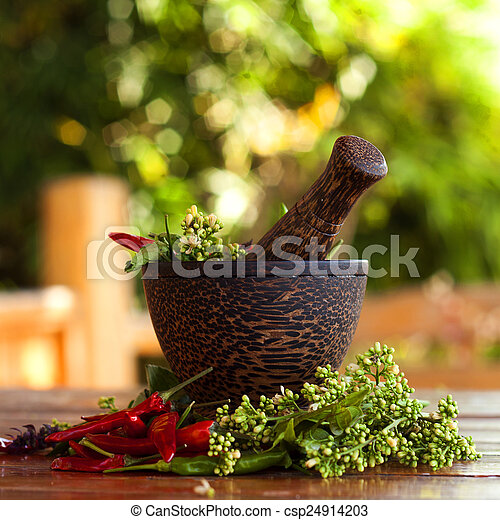 Mortar and pestle - csp24914203