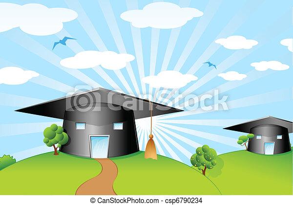 Mortar Board Shape School - csp6790234