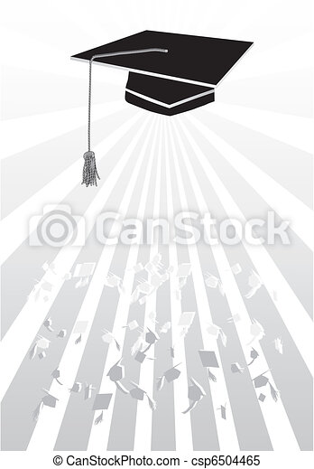 Mortar in graduation in grey - csp6504465