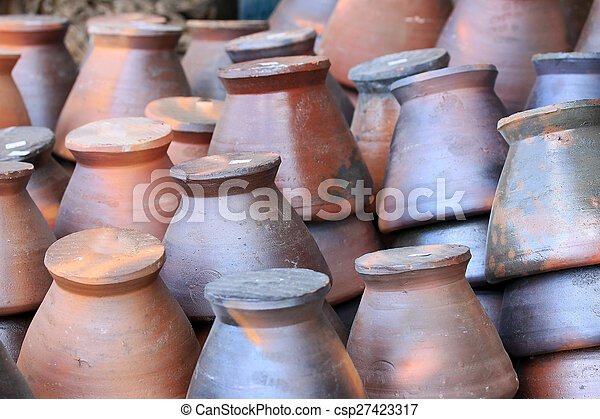 Mortar used for making sauces - csp27423317