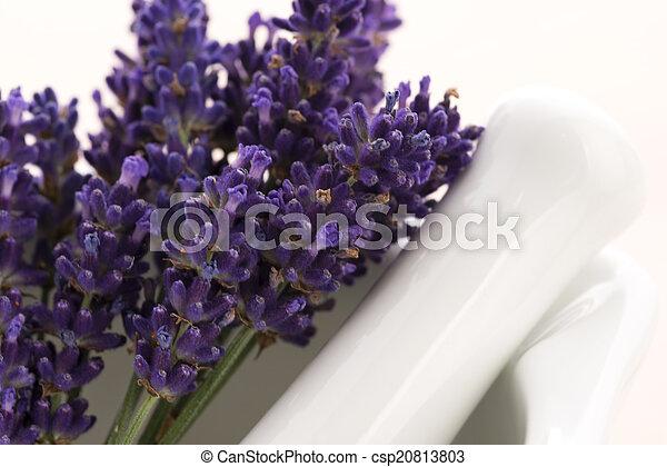 Mortero Flores Lavanda