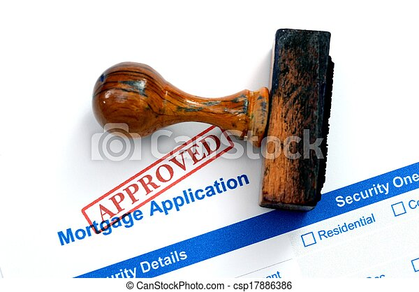 Mortgage form - approved - csp17886386