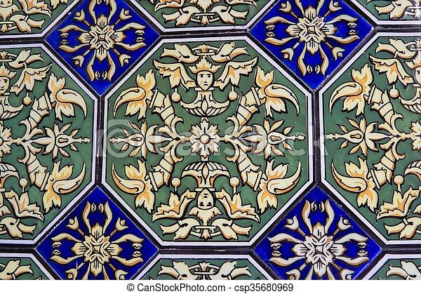 mosaïque, espagnol - csp35680969