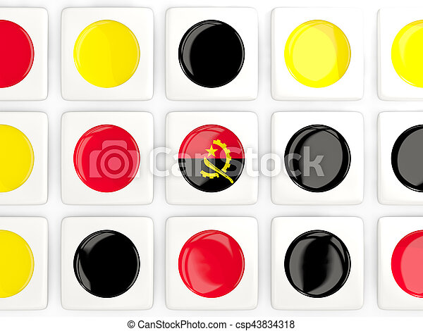 Mosaic background with flag of angola - csp43834318