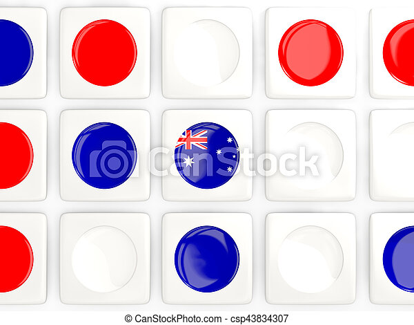 Mosaic background with flag of australia - csp43834307