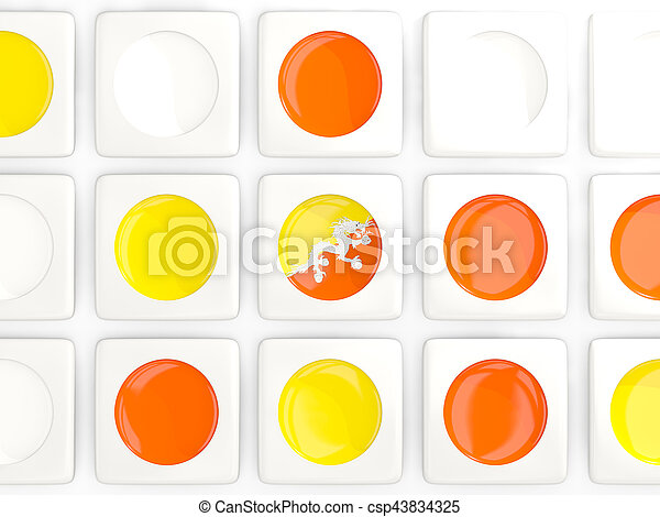 Mosaic background with flag of bhutan - csp43834325