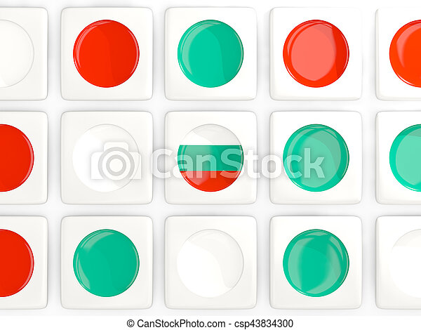 Mosaic background with flag of bulgaria - csp43834300