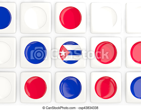 Mosaic background with flag of cuba - csp43834338
