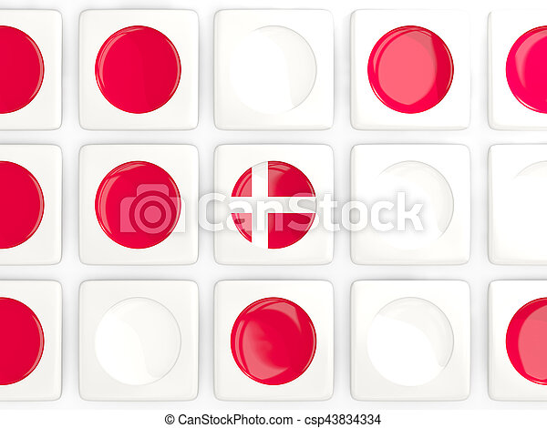 Mosaic background with flag of denmark - csp43834334