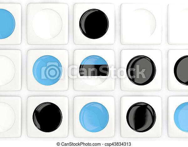 Mosaic background with flag of estonia - csp43834313