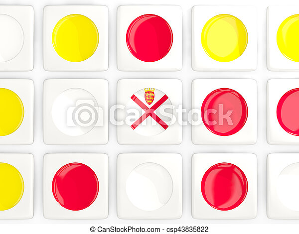 Mosaic background with flag of jersey - csp43835822