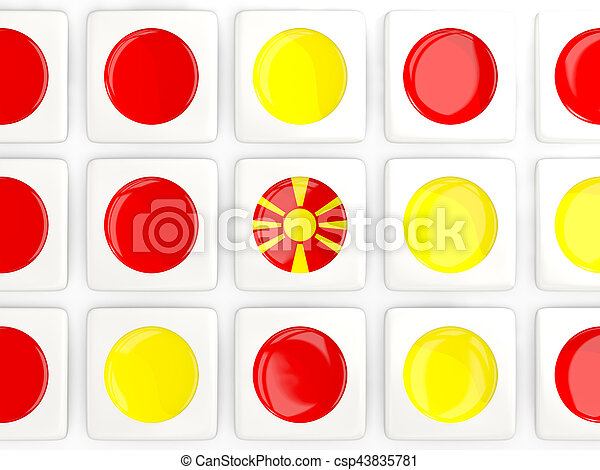 Mosaic background with flag of macedonia - csp43835781