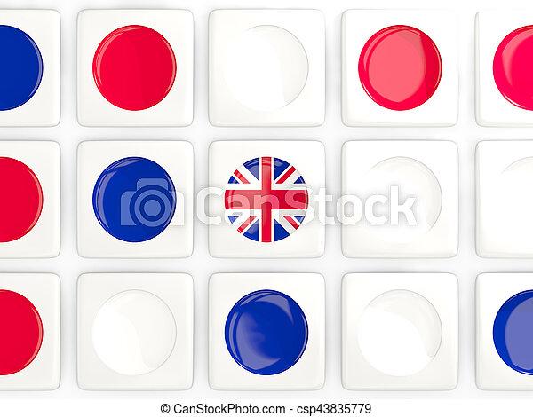 Mosaic background with flag of united kingdom - csp43835779