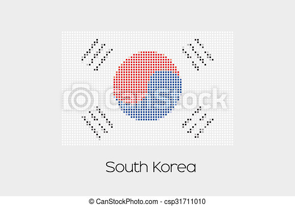 Mosaic Flag Illustration of the country of South Korea - csp31711010
