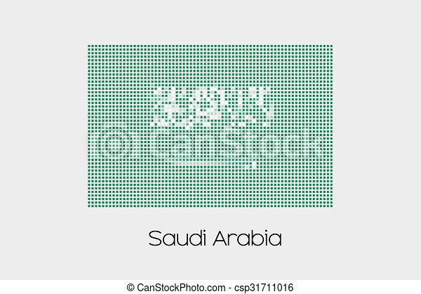Mosaic Flag Illustration of the country of Saudi Arabia - csp31711016