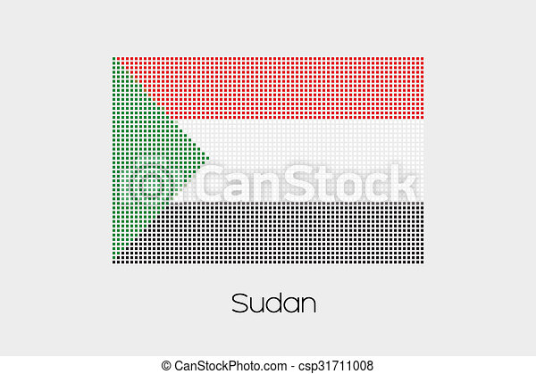 Mosaic Flag Illustration of the country of Sudan - csp31711008