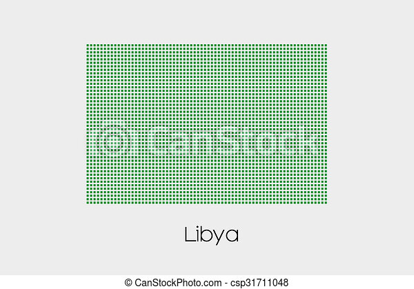 Mosaic Flag Illustration of the country of Libya-83 - csp31711048