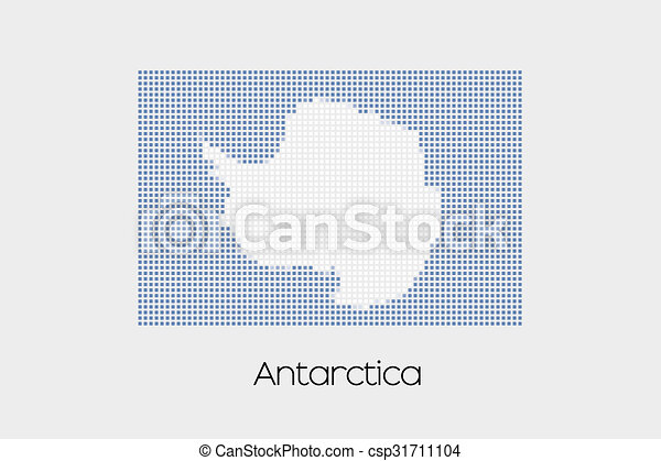 Mosaic Flag Illustration of the country of Antartica - csp31711104