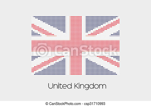 Mosaic Flag Illustration of the country of United Kingdom - csp31710993