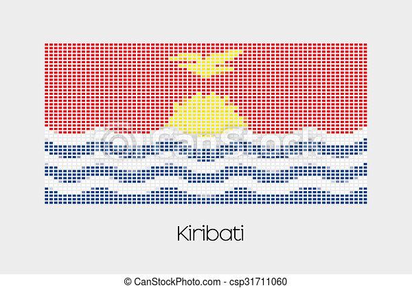 Mosaic Flag Illustration of the country of Kiribati - csp31711060