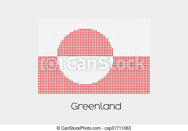 Mosaic Flag Illustration of the country of Greenland - csp31711063
