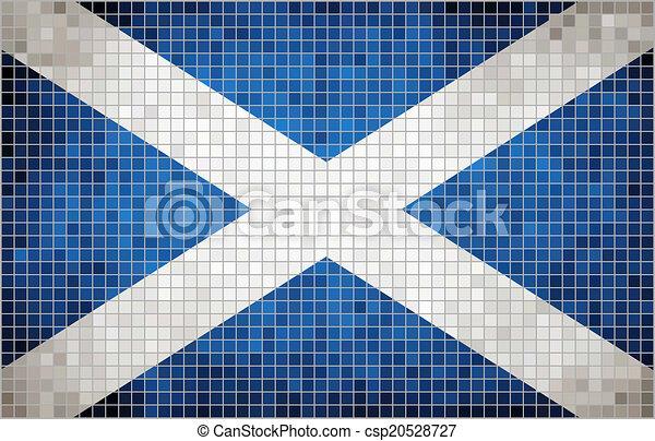 Mosaic Flag of Scotland - csp20528727