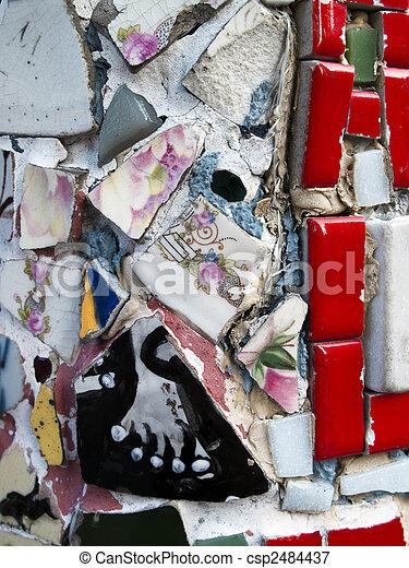 Mosaic made from ceramic - csp2484437