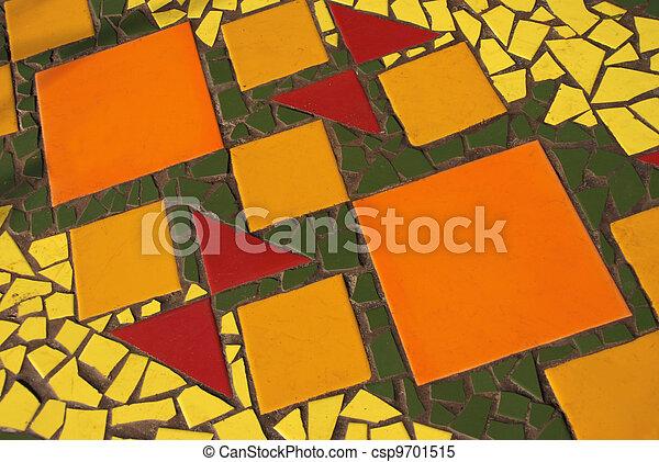 mosaic made of pieces of ceramic tile - csp9701515