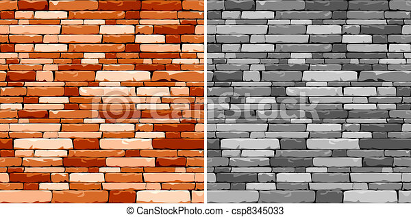 Mosaic seamless stone background - csp8345033