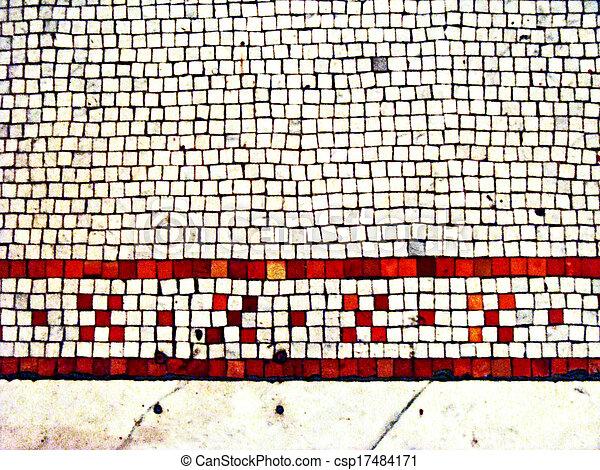 Mosaic tile border - csp17484171