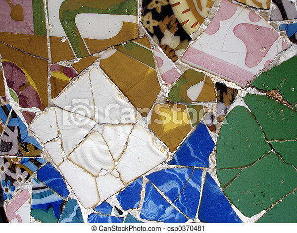 Mosaic tile pieces - csp0370481