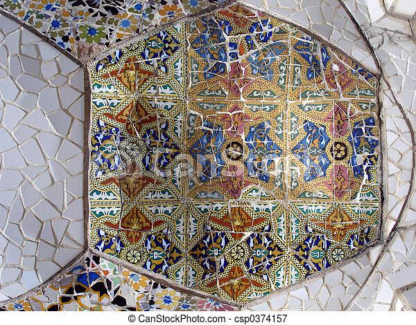 Mosaic tile pieces - csp0374157