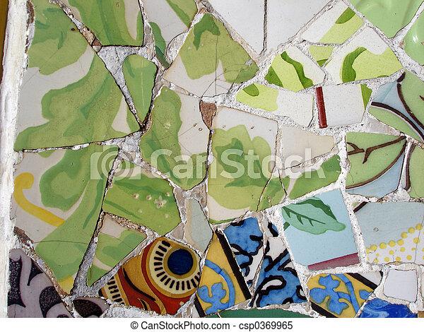 Mosaic tile pieces - csp0369965