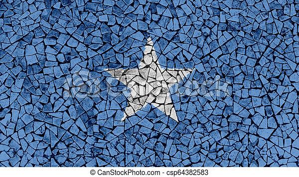 Mosaic Tiles Painting of Somalia Flag - csp64382583