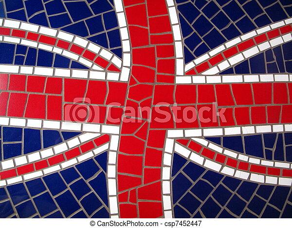 Mosaic Union Jack - csp7452447