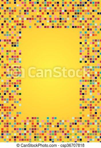 mosaico padrões desenho fundo amarela azulejos quadrado