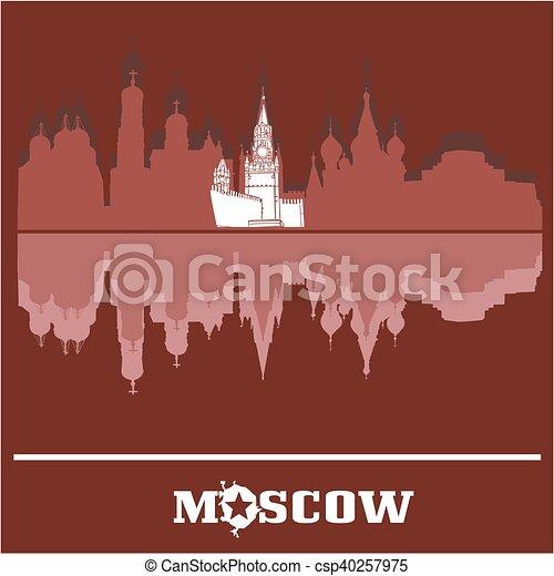 Moscú Kremlin skyline, Rusia - csp40257975
