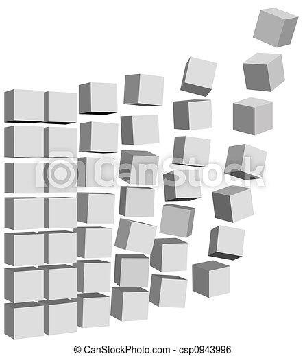 mosca, cartoni, &, su, scatole, cadere, dati - csp0943996